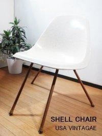 【送料無料】 ミッドセンチュリー ヴィンテージ FIBERMOLD シェルチェア Xベース イームズ 椅子 イス