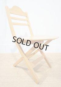 北欧 ヴィンテージ フォールディングチェア 折り畳み椅子 ビーチ材 アトリエ