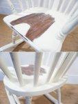 画像14: 【 送料無料 】  ☆展示品☆ ホワイトペインティング ウインザー様式 ヴィンテージ加工 ロッキングチェア アームチェア 安楽椅子 揺り椅子