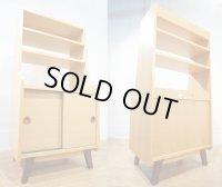 【 展示品 】  収納棚 キャビネット シェルフ サイドボード 本棚 飾り棚 書棚 北欧モダン