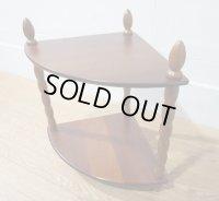 レトロ アンティーク Najico  飾り棚 コーナーラック オープンシェルフ サイドテーブル 棚 台 英国 洋館 スタイル