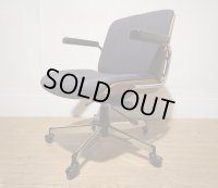 スイス giroflex ジロフレックス ヴィンテージ チーク材 BRASA ブラサ ラウンジチェア 書斎椅子 デスクチェア プレジデントチェア 社長椅子 役員椅子 昇降手動 ロッキング機能 キャスターチェア  12万