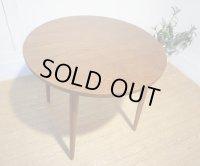 【 美品 】 北欧 ミッドセンチュリー モダン 円形 ダイニングテーブル カフェテーブル デスク 机 オーク材